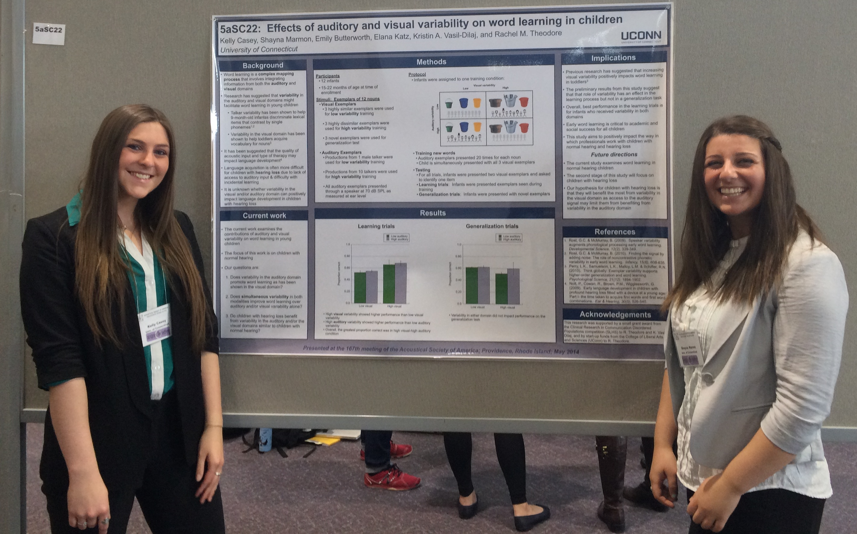 rmt uconn laboratory for spoken language processing dr theodore chaired and presented in a special session for speech communication m a students kelly casey and shayna marmon presented their
